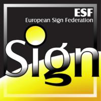 Logo ESF - European Sign Federation