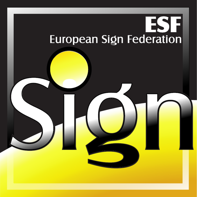 Logo ESF - European Sign Federation - Footer